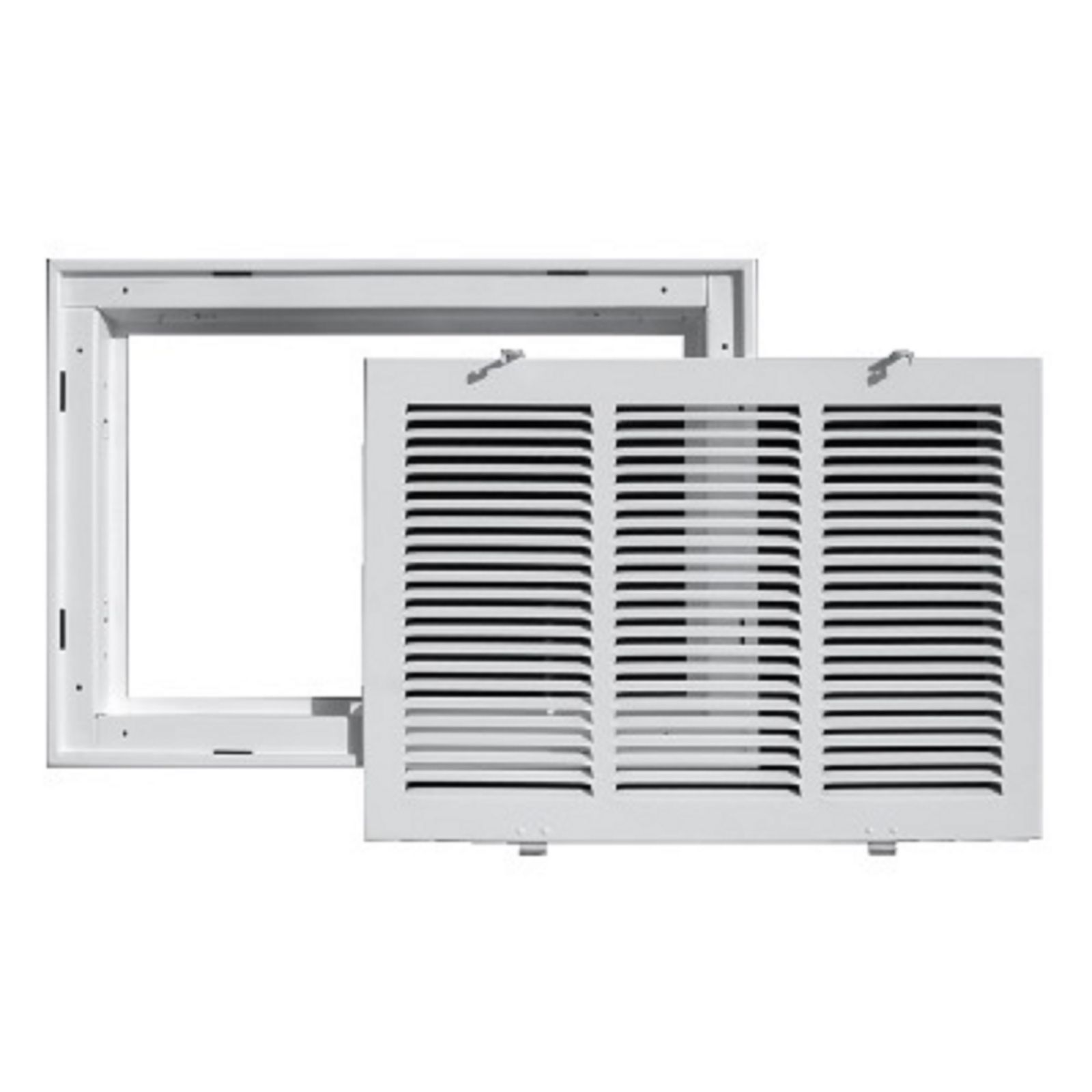 "TRUaire 190RF 14X14 - Steel Return Air Filter Grille With Removable Face, White, 14"" X 14"""
