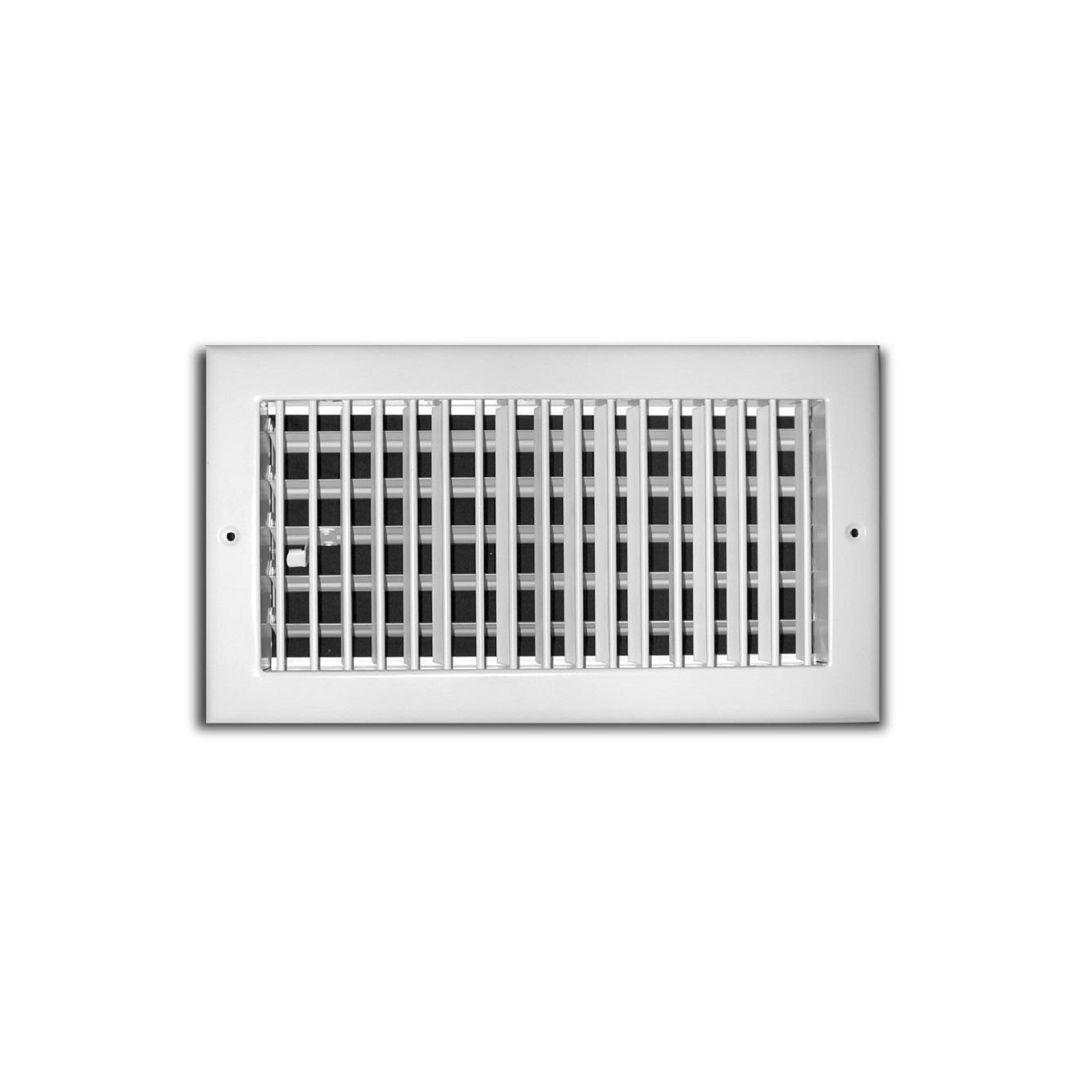 "TRUaire 210VM 12X04 - Steel Adjustable 1-Way Wall/Ceiling Register With Multi Shutter Damper, White, 12"" X 04"""