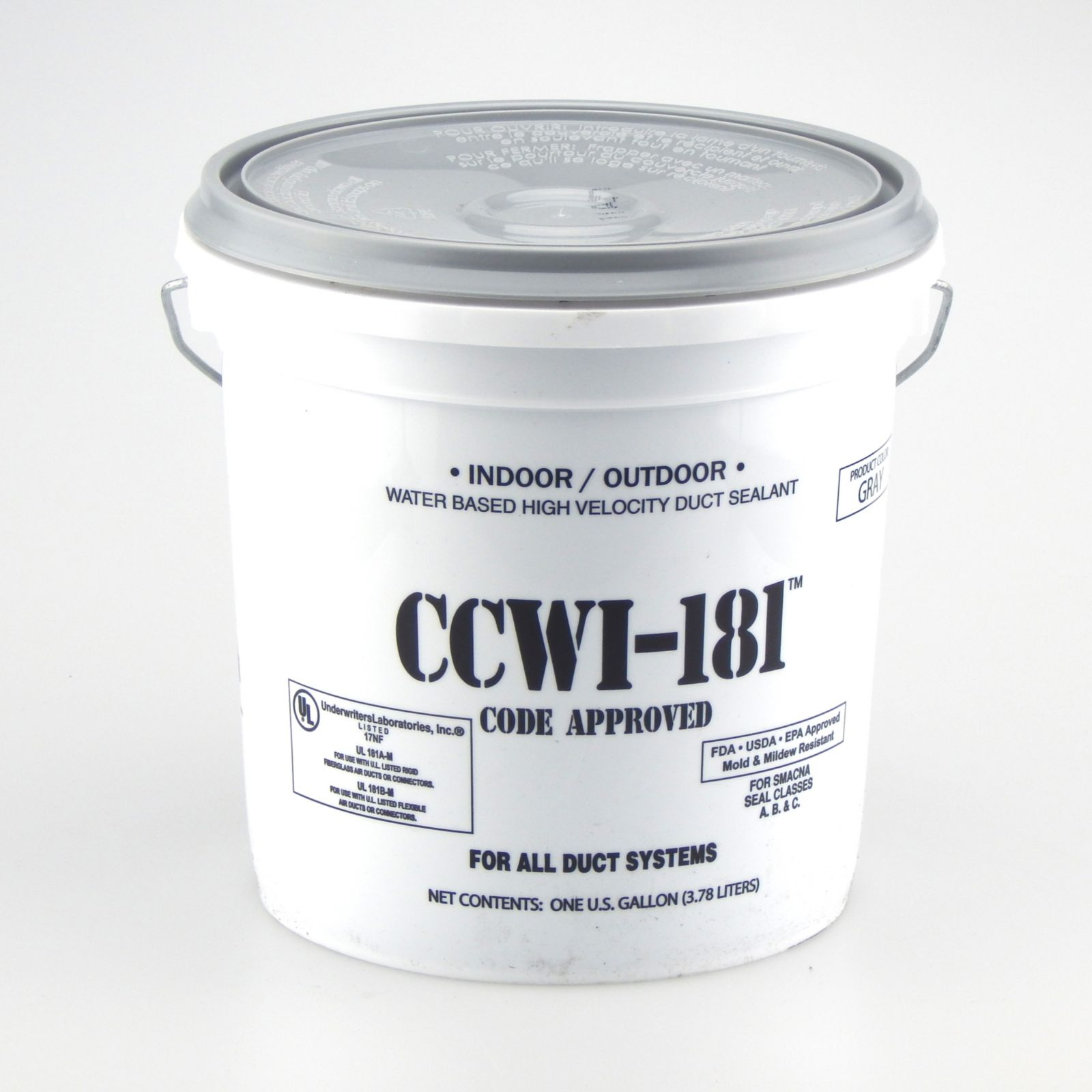 Hardcast/Carlisle 304148 - CCWI-181 Indoor/Outdoor Water Based Duct Sealant Grey, 1 Gallon