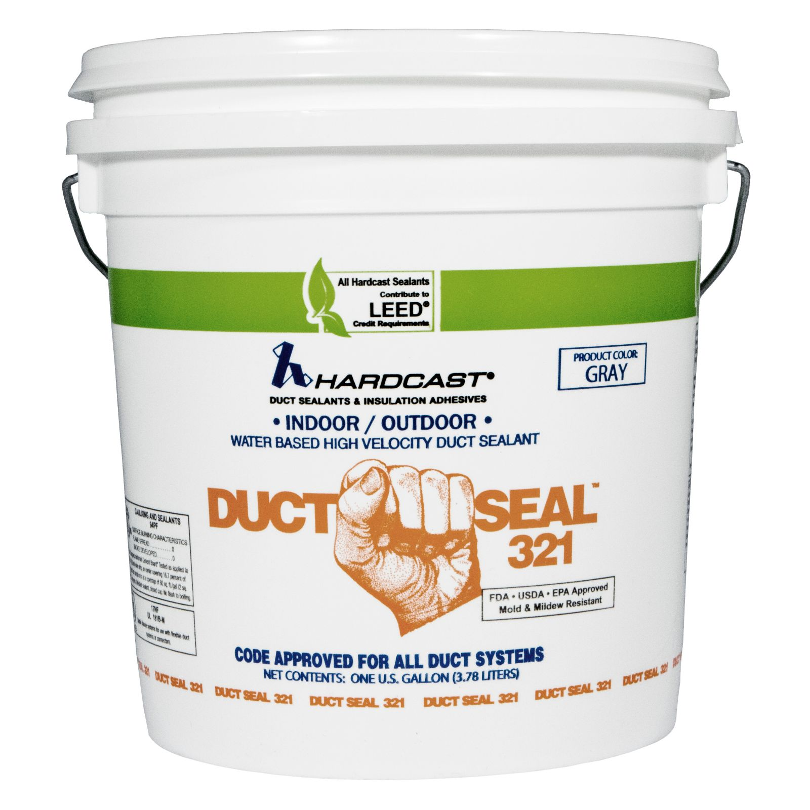 Hardcast/Carlisle 304156 - Duct-Seal 321 Water Based Duct Sealant, Grey, 1 Gallon