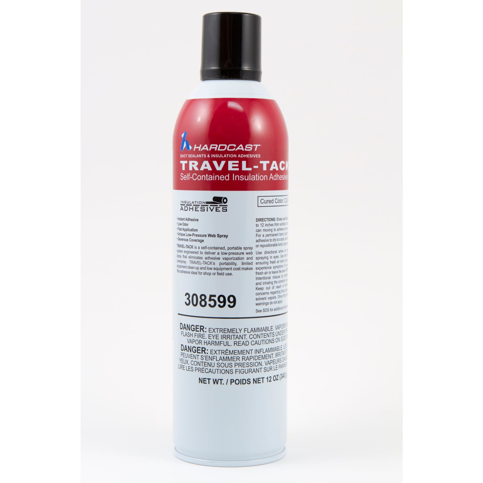 Hardcast/Carlisle 308599 - Travel-Tack, Clear Low VOC Spray Can