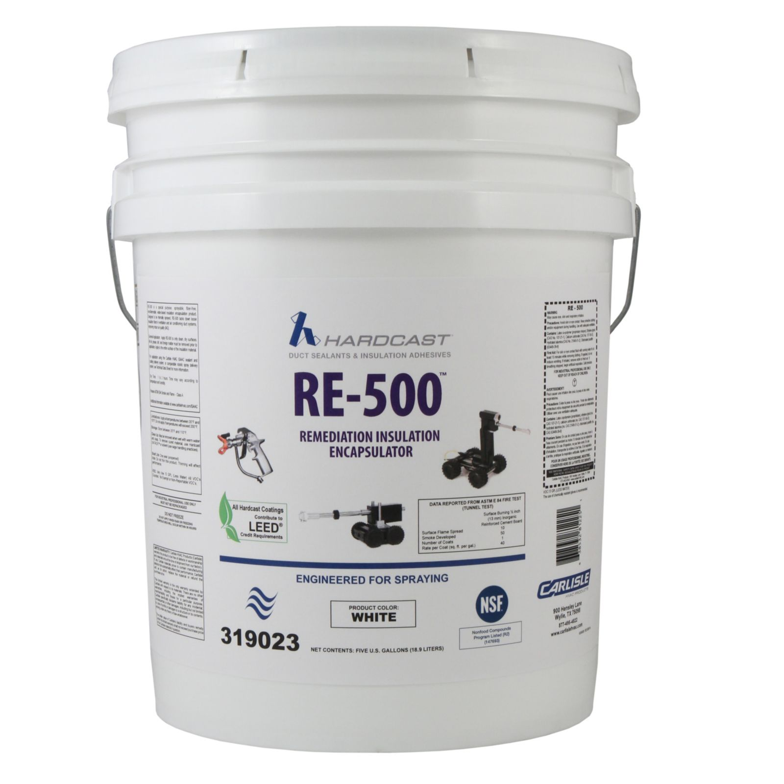 Hardcast/Carlisle 319023 - Robotic Insulation Coating, White, 5 Gallon Pail