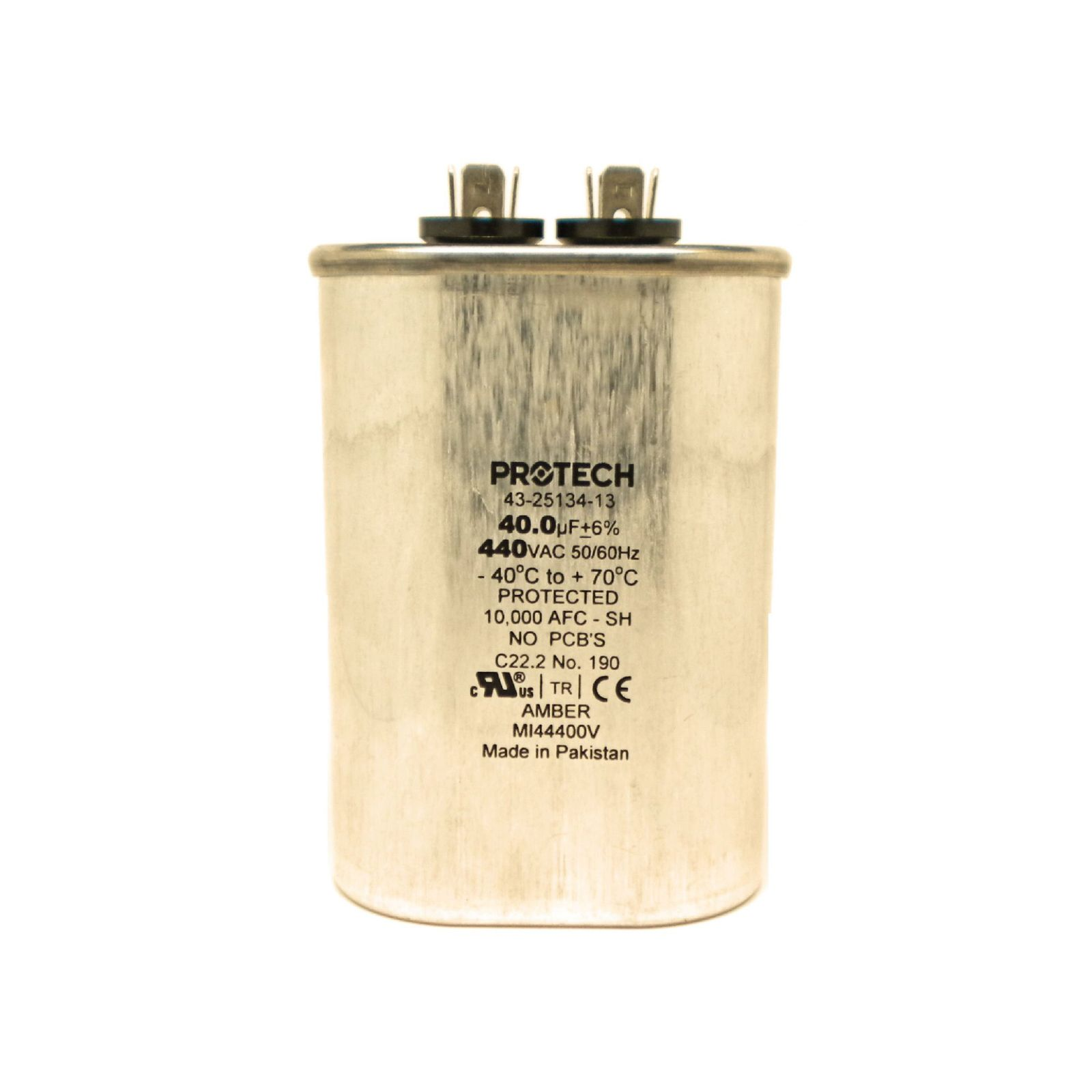 PROTECH 43-25134-13 - Capacitor - 40/440 Single Oval