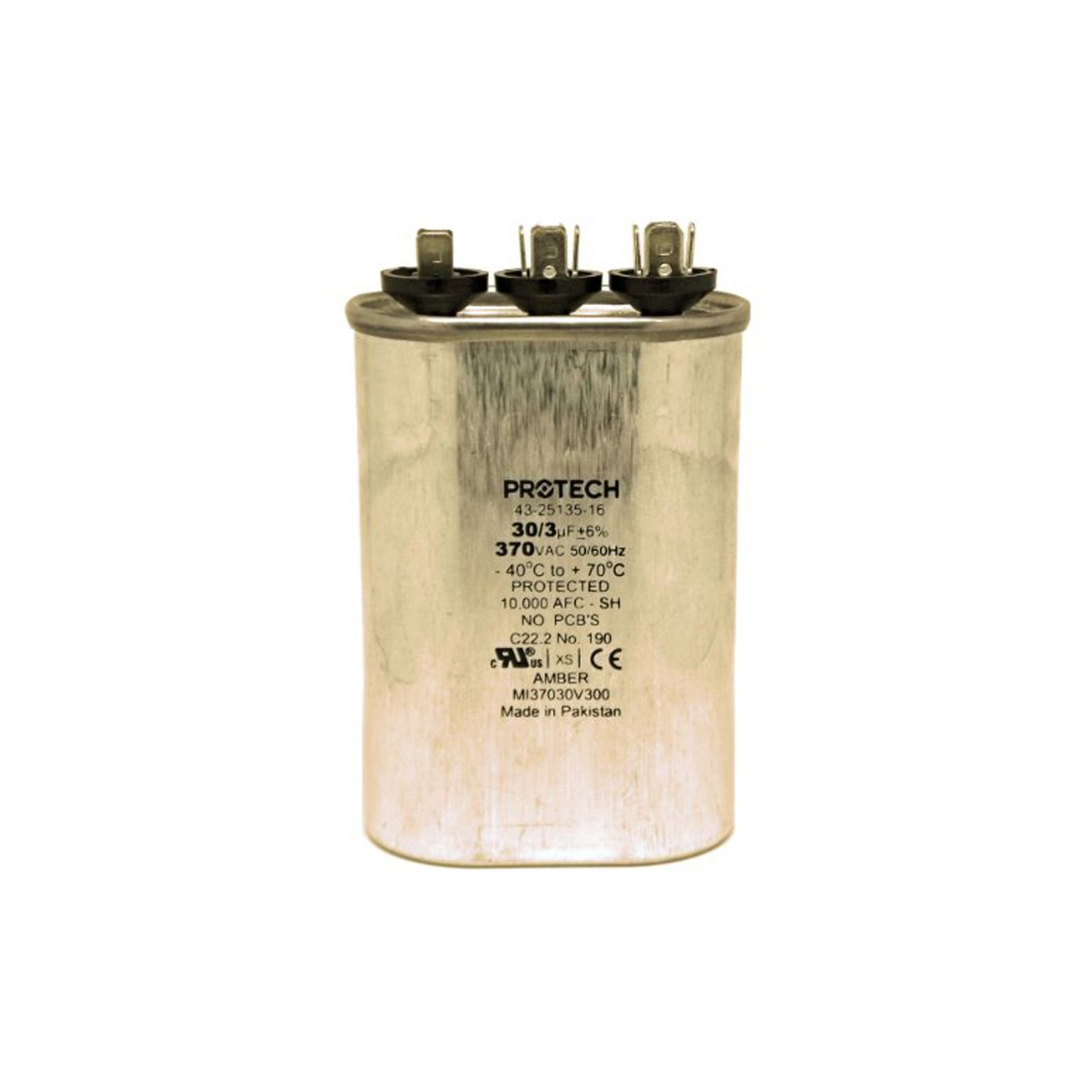 PROTECH 43-25135-16 - Capacitor - 30/3/370 Dual Oval