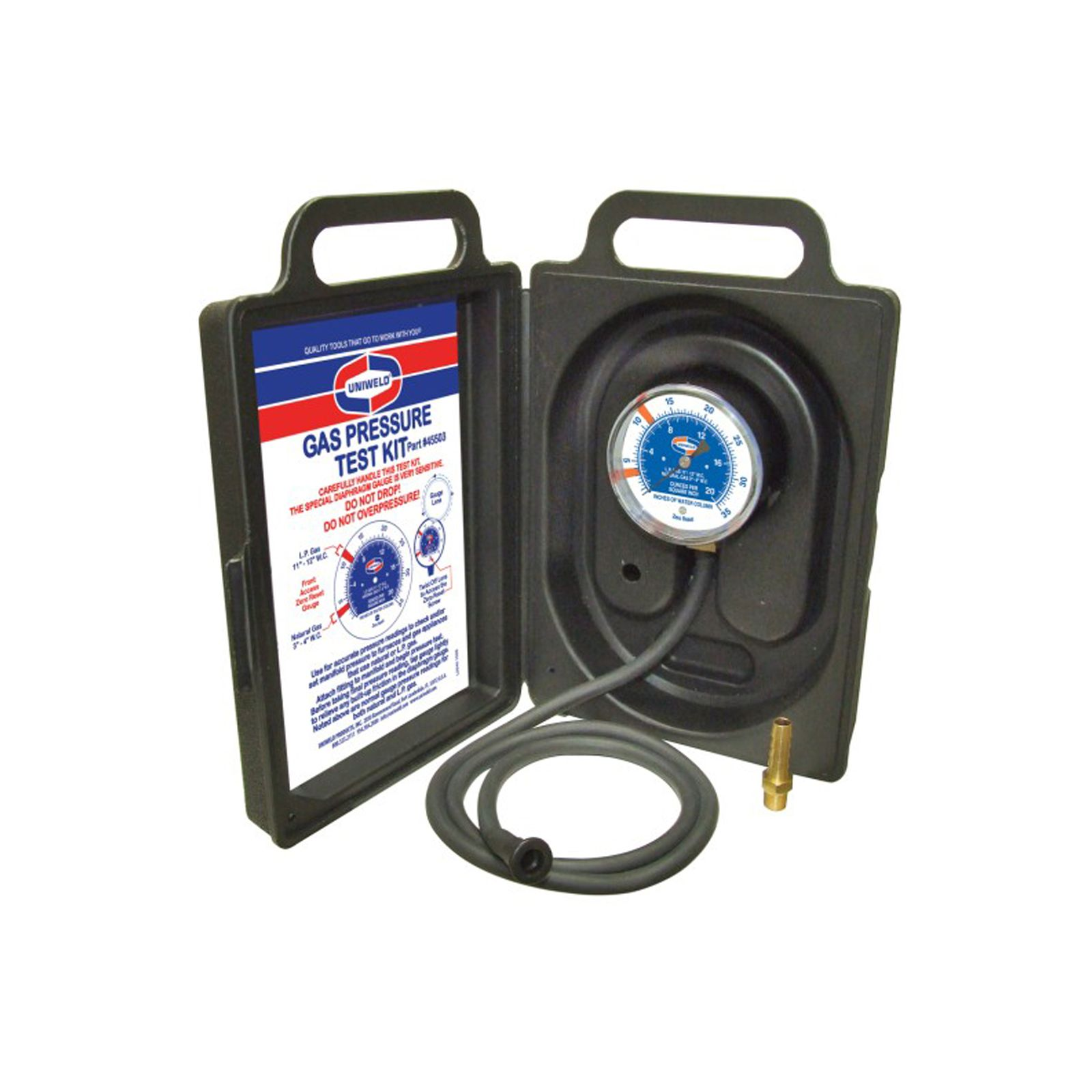 "Uniweld 45503 - Gas Pressure Test Kit 0"" To 35"" WC"