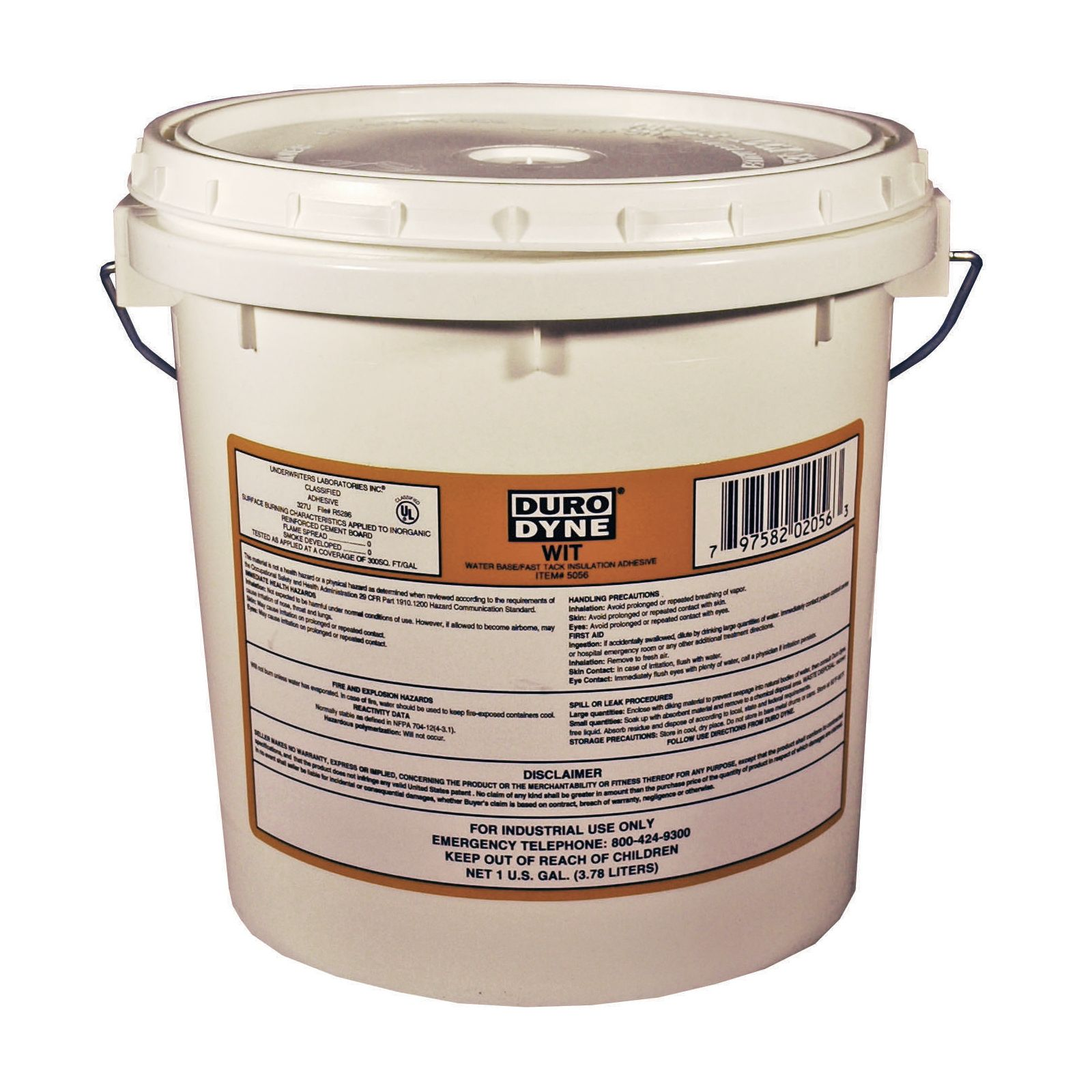 Duro Dyne 5056 -  High Viscosity Water Based Adhesive, 1 Gallon