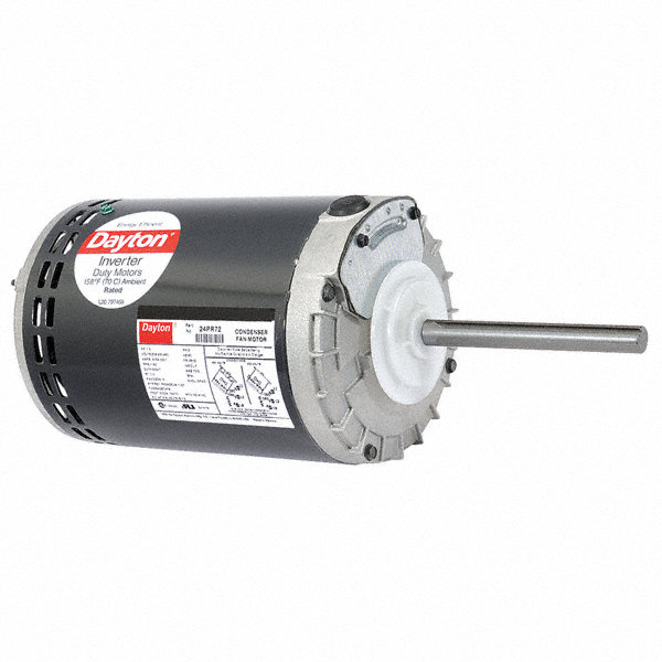 DAYTON 1 HP Condenser Fan Motor,3-Phase,825 Nameplate RPM,208-230/460 Voltage,Frame 56YZ