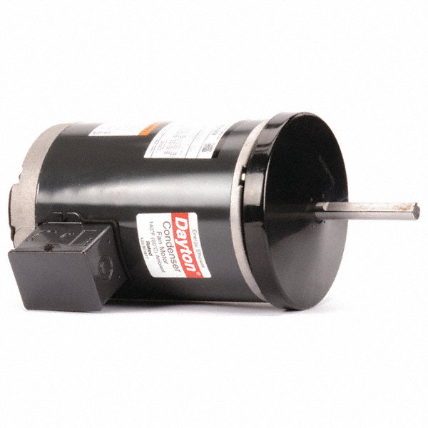 DAYTON 1 HP Condenser Fan Motor,3-Phase,1140 Nameplate RPM,200-230/460 Voltage,Frame 56Z