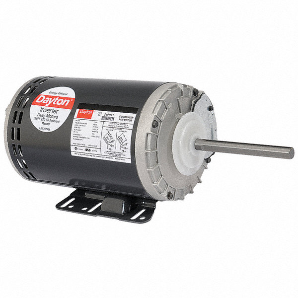 DAYTON 1 HP Condenser Fan Motor,3-Phase,1140 Nameplate RPM,208-230/460 Voltage,Frame 56YZ