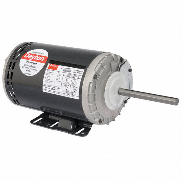 1-DAYTON 1/2 HP Condenser Fan Motor,3-Phase,1140 Nameplate RPM,208-230/460 Voltage,Frame 56HZ