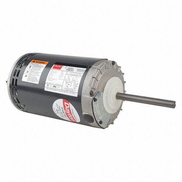 1-DAYTON 1/2 HP Condenser Fan Motor,3-Phase,1140 Nameplate RPM,208-230/460 Voltage,Frame 56YZ