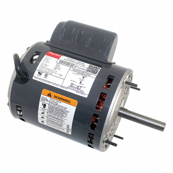 DAYTON 1/3 HP Direct Drive Blower Motor, Permanent Split Capacitor, 850 Nameplate RPM, 115 Voltage