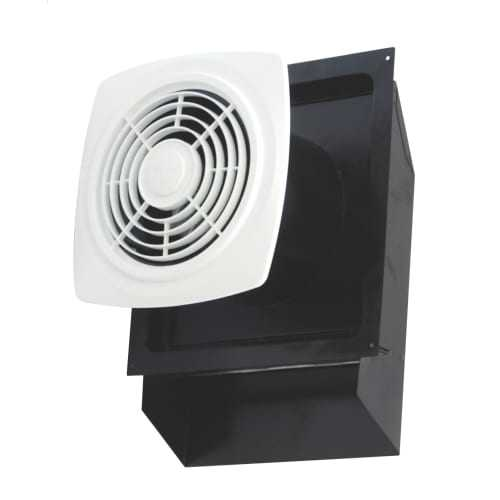 Air King EWF-180 180 CFM HVI Certified 6.5 Sone Through the Wall Exhaust Fan with Spring Loaded Back Draft Damper from the