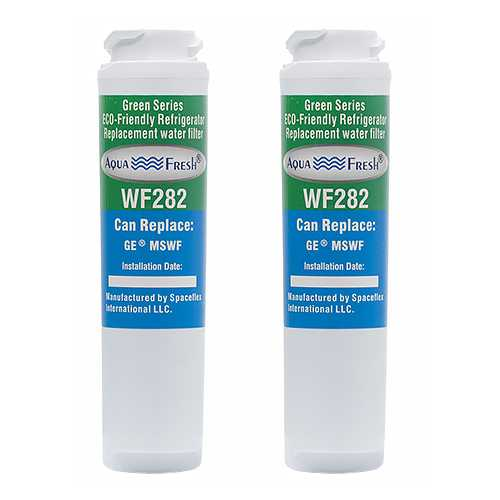 Aqua Fresh Replacement Water Filter Cartridge for GE PSHS6RGXBDSS - (2 Pack)