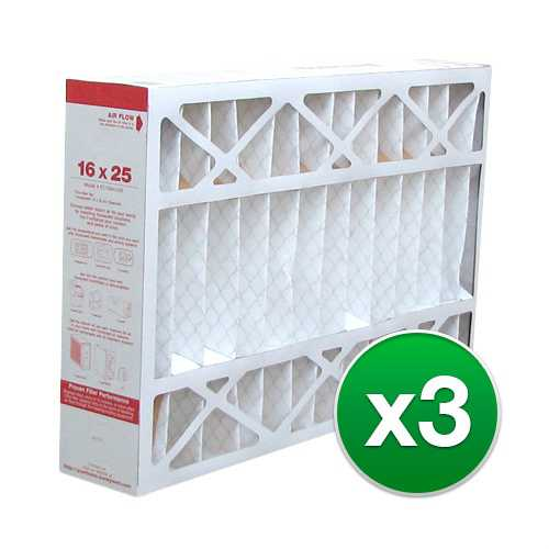 Replacement Pleated Air Filter for For Honeywell CF100A1009 Furnace 16x25x4 MERV 11 (3 Pack)