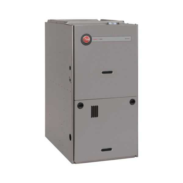 Rheem - R801PA125524ZXB - Classic 80% Gas Furnace, 1 Stage, 125K BTU Downflow, PSC Motor, Low NOx, 3-1/2 to 5 Ton