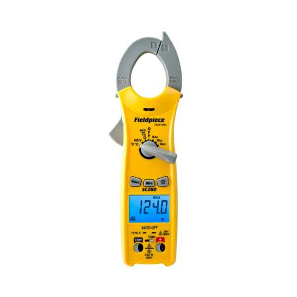 Fieldpiece SC260 - SC200 Series Compact Clamp Meter With True RMS and Magnet
