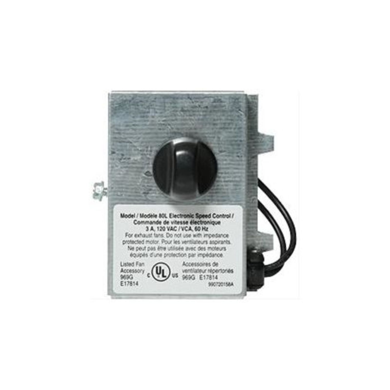 "Variable Speed Control a€"" 3.0 Amp, 120 Volts, 60 Hz (May Be Used With Select Models)"