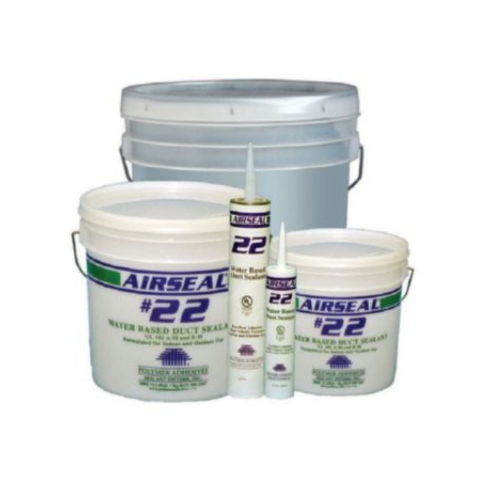 Polymer Adhesives AS22-1(W) - Airseal  - #22-1 White, Water Based Duct Sealant