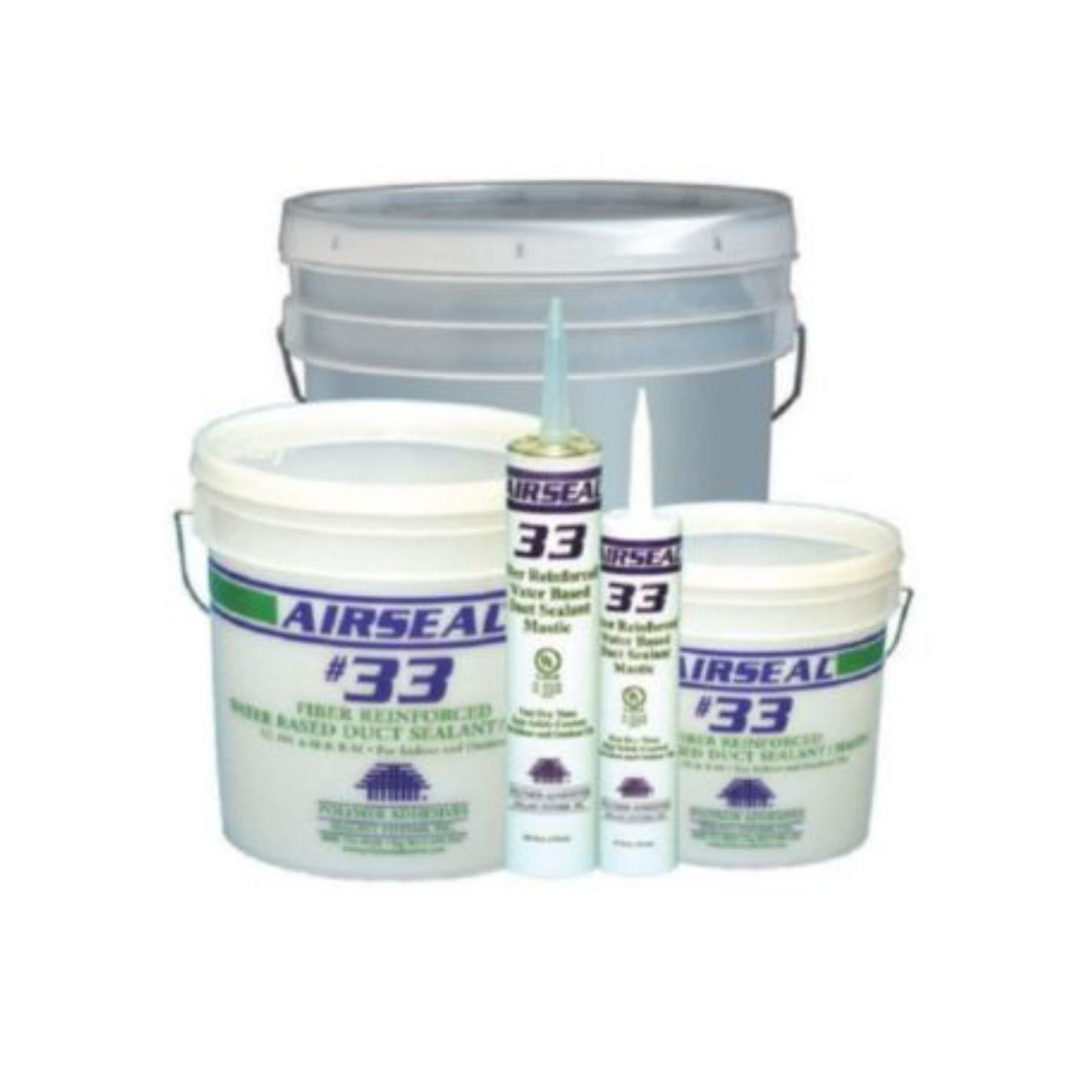 Polymer Adhesives AS33-1(G) - Airseal  - #33-1 Grey, Fiber Reinforced Water Based Duct Sealant