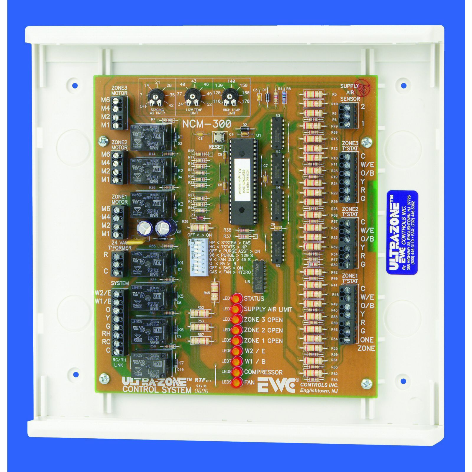 EWC NCM-300 - Control Panel, Non-expandable, 3 Zone
