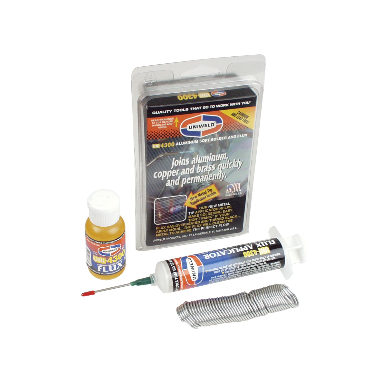 Uniweld P4KD9S - UNI-4300 Aluminum Soft Solder Flux Kit With Applicator