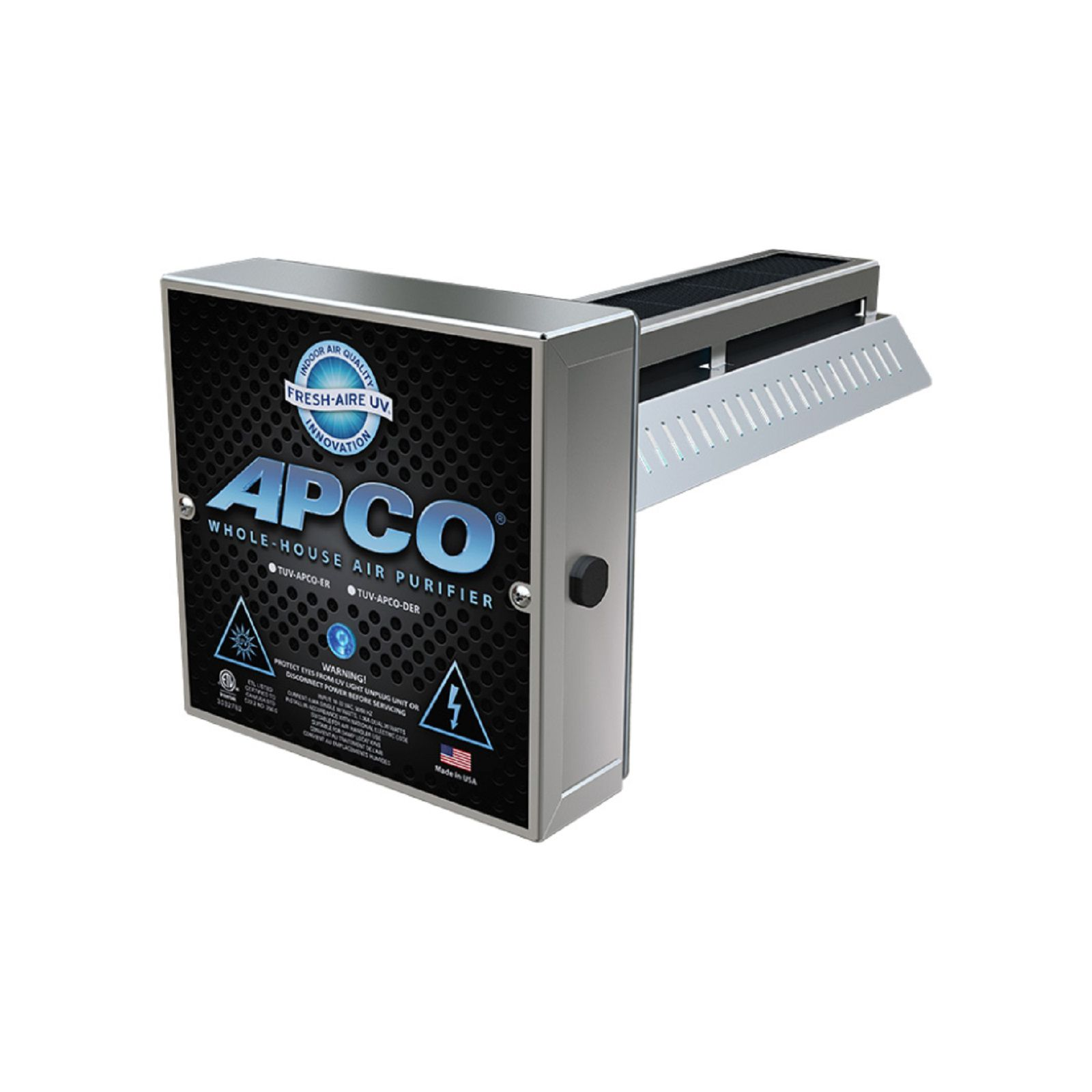 Fresh Aire TUV-APCO-SI2-P - Duct Mount UV System-A 110/277 VAC Single Lamp, TUVL-215, Advanced PCO Cell, Kit bag. With Plug